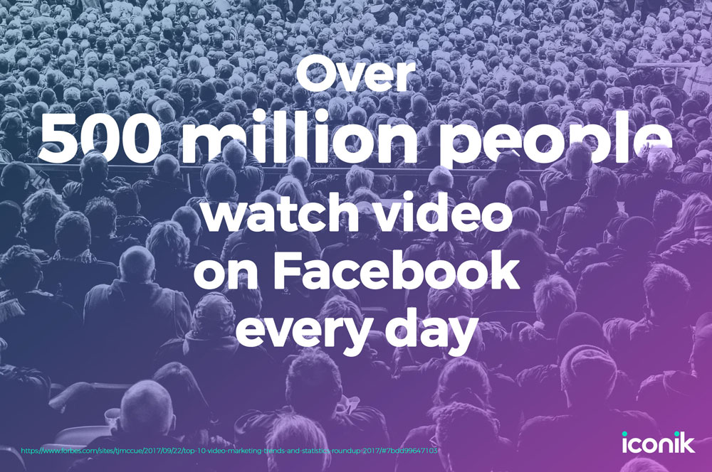 500 million people watch videos in Facebook