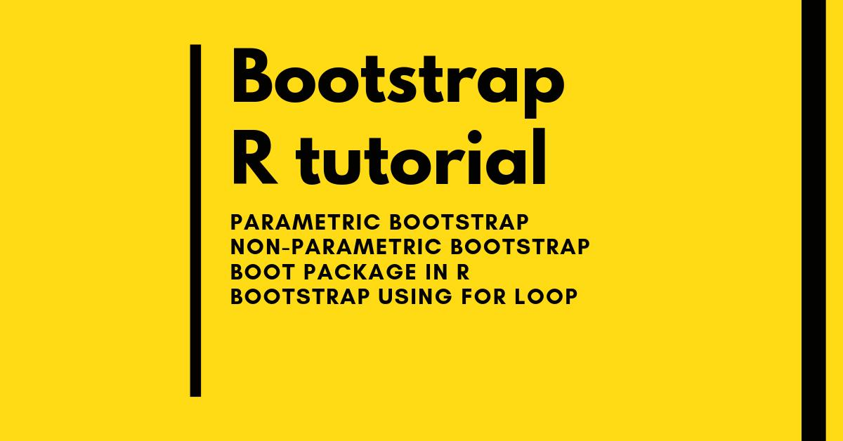 bootstrap parametric nonparametric r