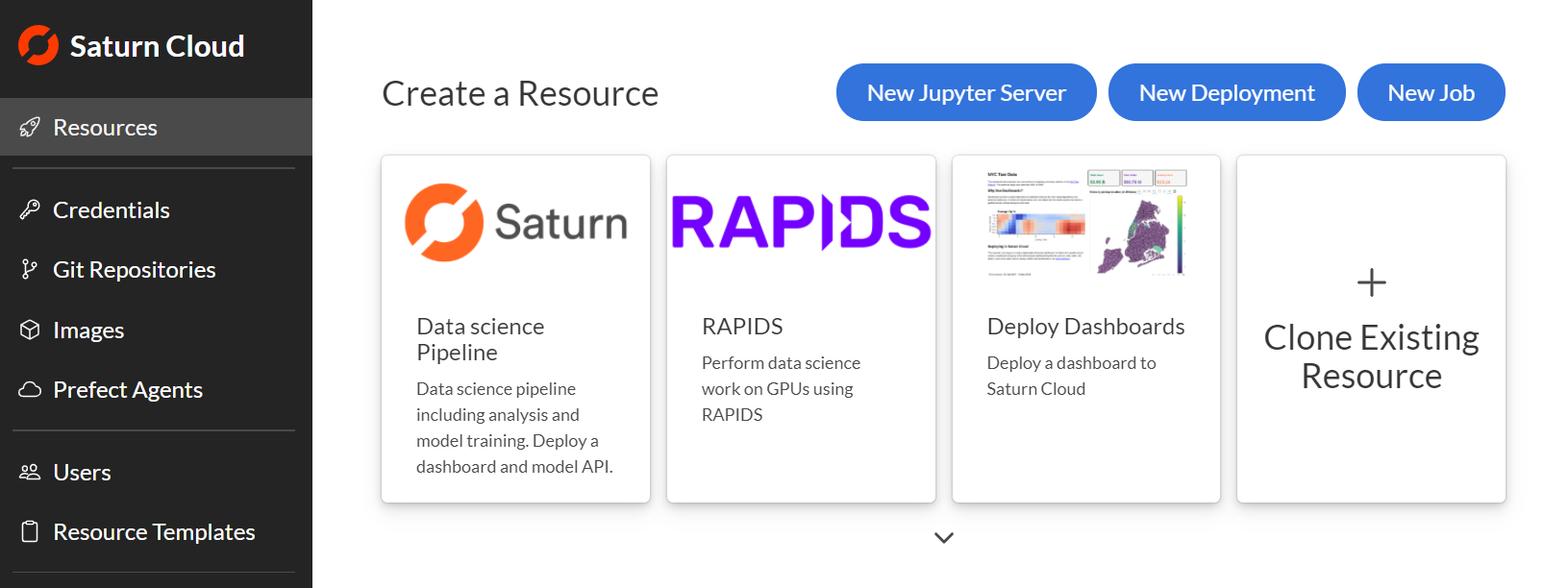 Screenshot of the resource page