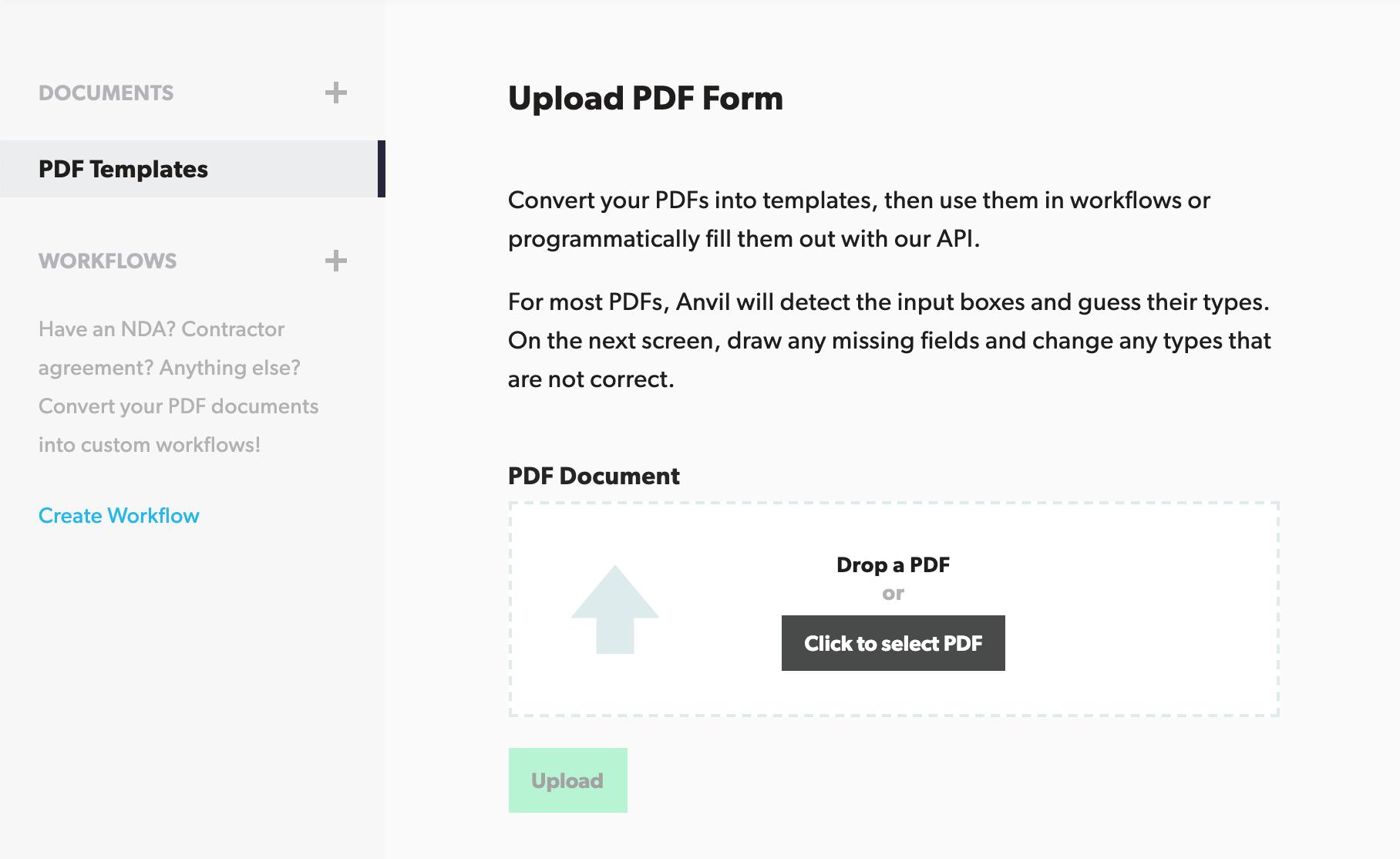 Uploading a PDF Form
