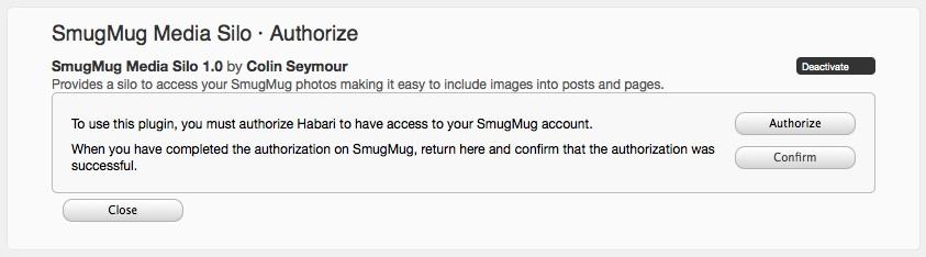 SmugMug Media Silo Activate
