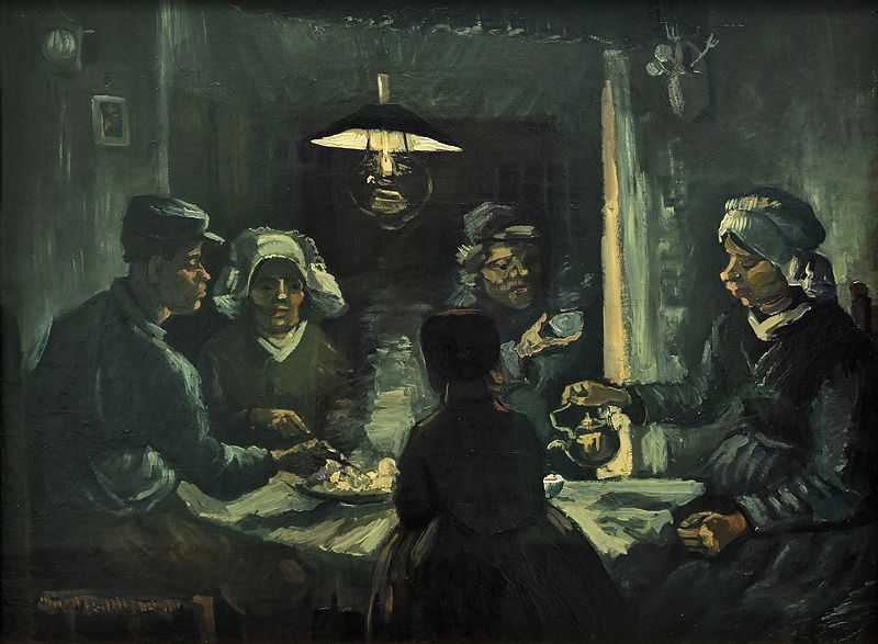 Another pre study of the Potato Eaters by Van Gogh, 1885, Van Gogh Museum, Amsterdam