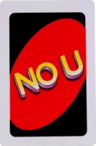 Original No U Uno Card