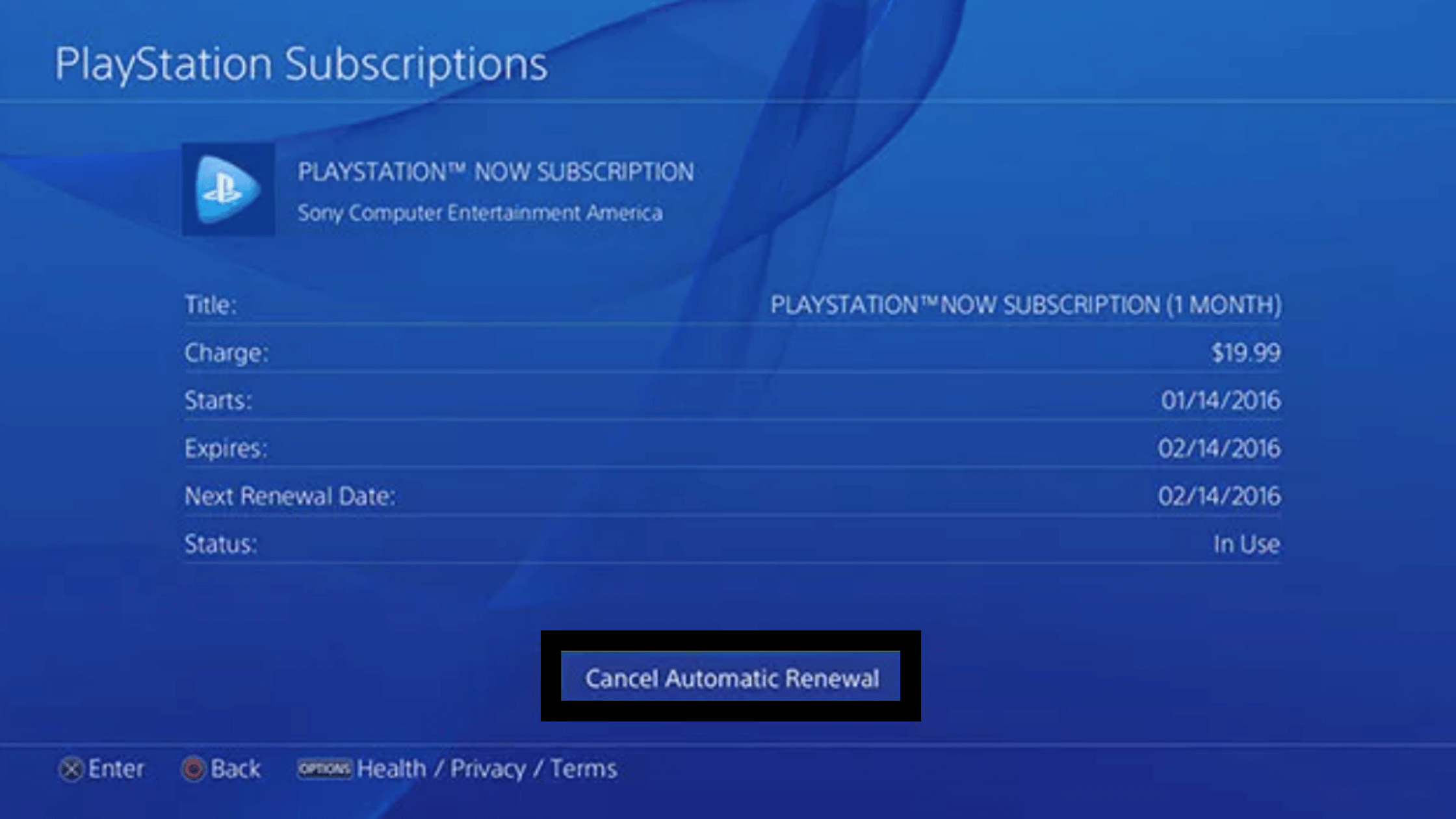 playstation now how to cancel