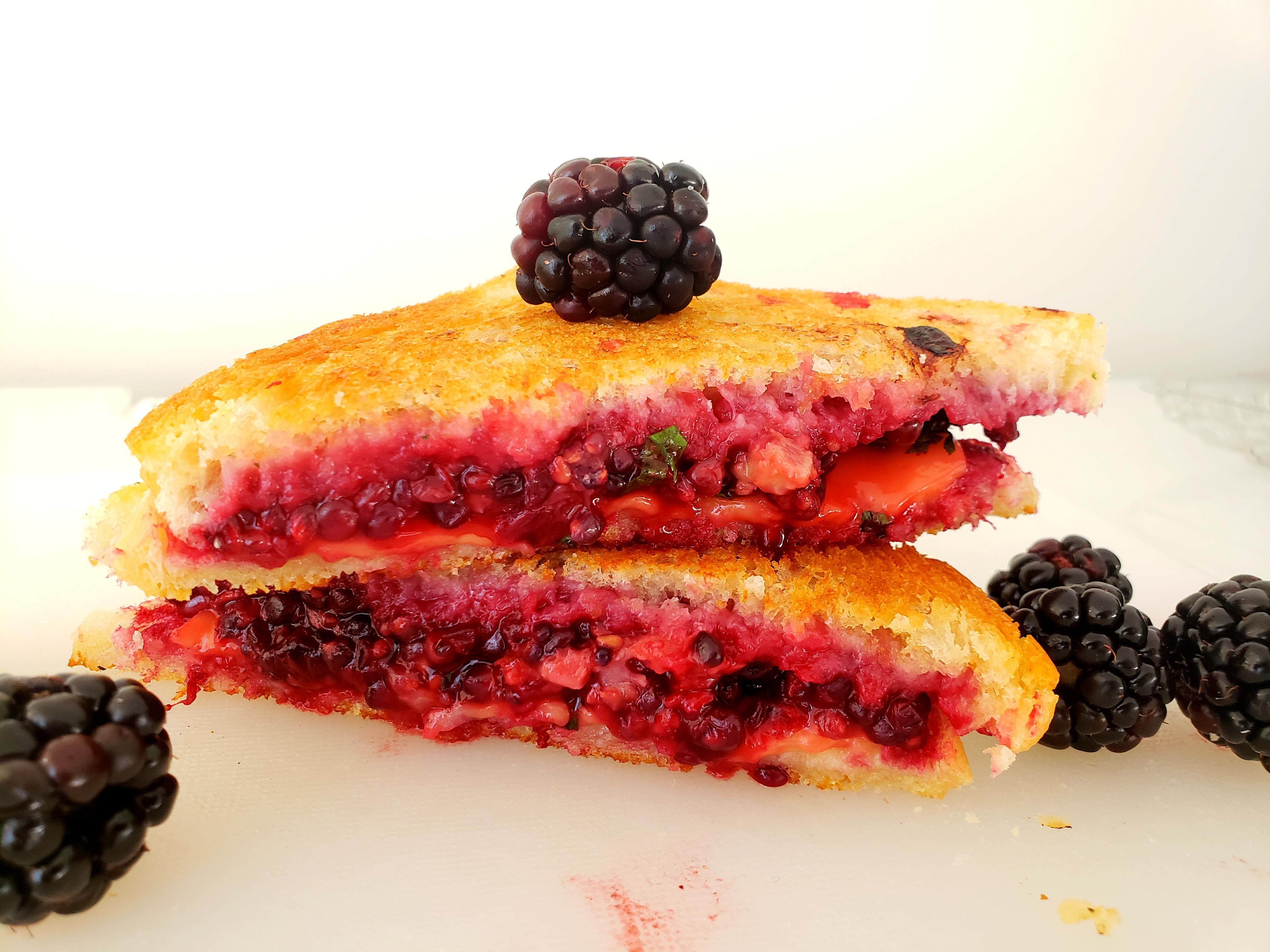 Blackberry Stuffed Grilled Cheese
