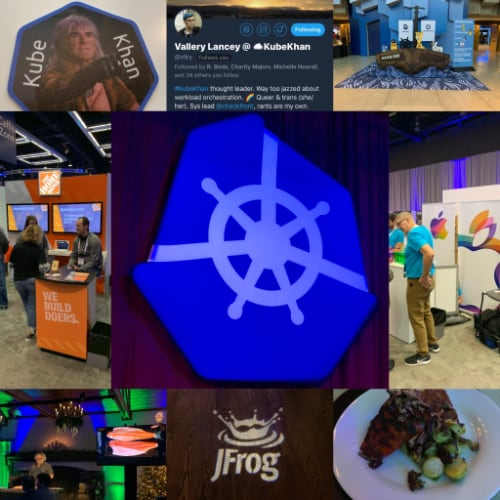 Various pictures taken by Chris Short during KubeCon + CloudNativeCon NA 2018