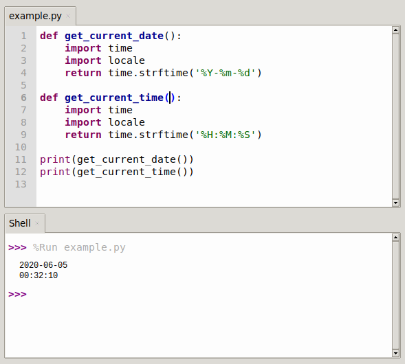 current date and time in python