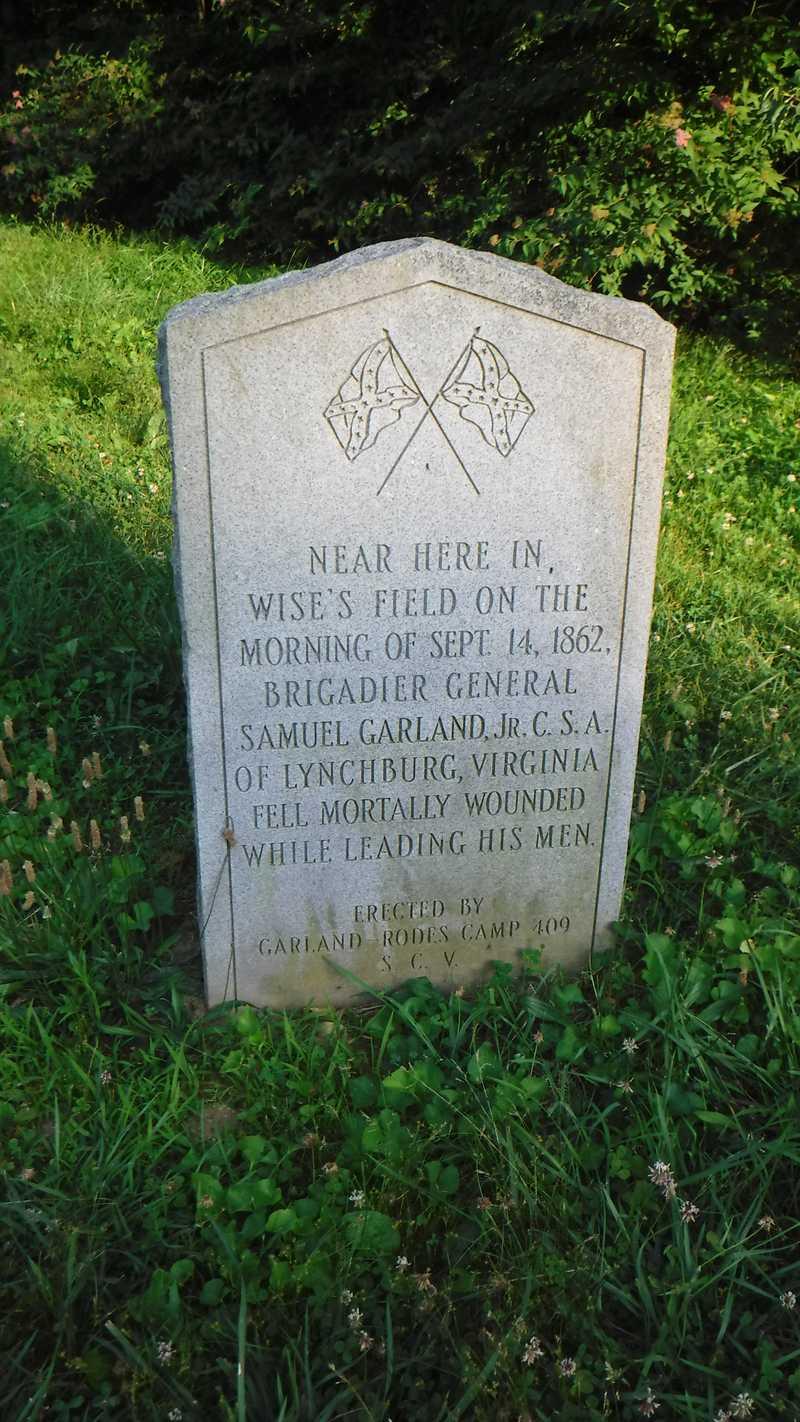 Monument for Confederate Brig. Gen. Samuel Garland, Jr.