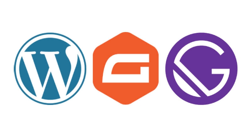 Brand logos for WordPress Gravity Forms and Gatsby