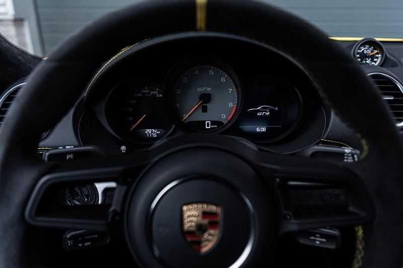 Porsche 718 Cayman GT4 4.0, 420 PK, RacingGelb, Sport/Chrono, Camera, 18/Way, 2900 KM, 2020, BTW!! afbeelding 24