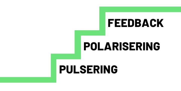 Bild på NLR-trappan - Pulsering, Polarisering, Feedback