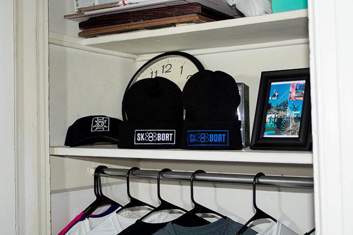 Sk8bort hats and shirts