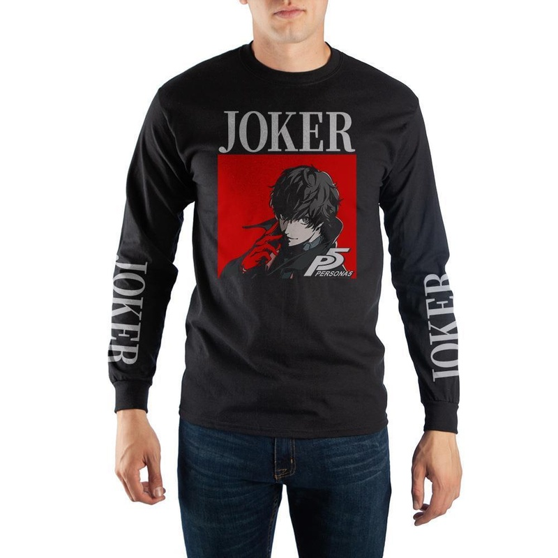 Persona 5 Joker Black Long Sleeve Shirt Wear