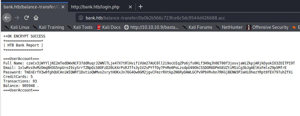 balance transfer file details