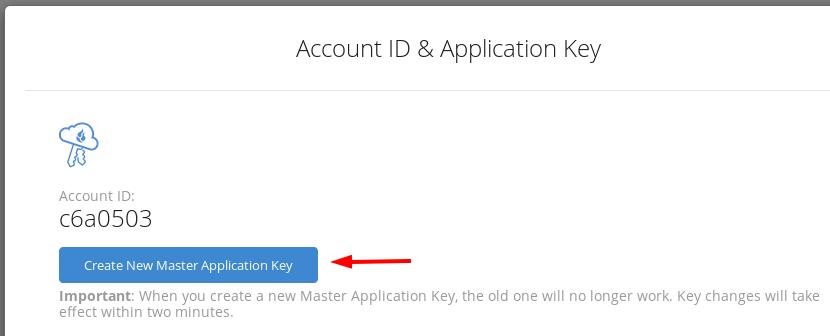 backblaze get keys