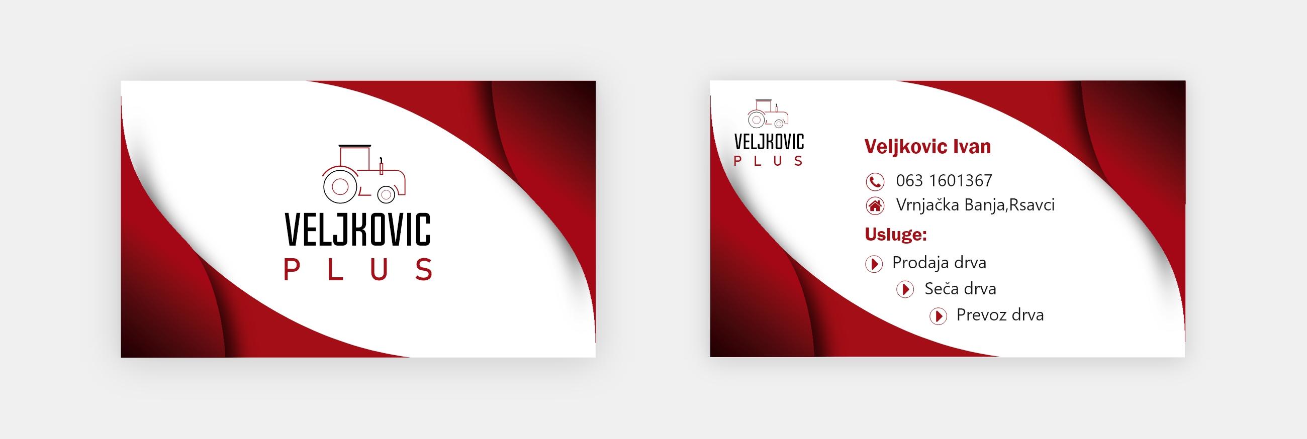 Business Card Design Veljkovic Plus