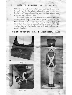 Union Products Toy Soldier Instruction Manual.pdf preview