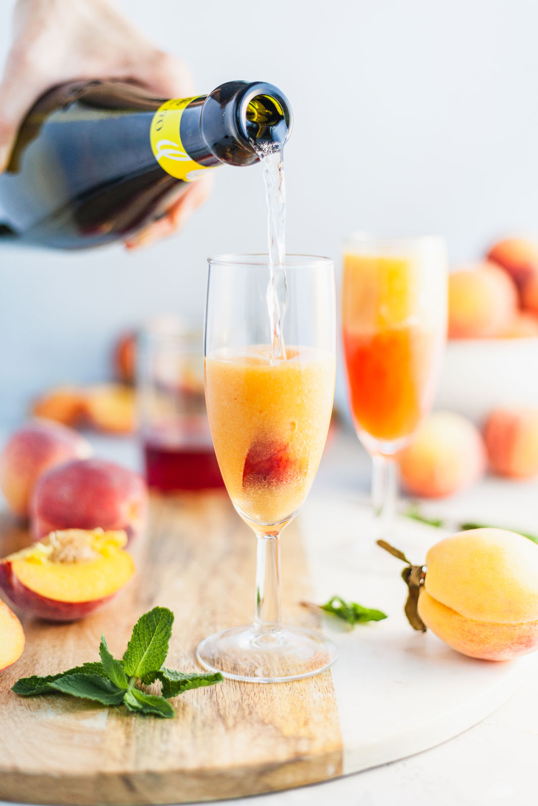 Frozen Peach Bellini