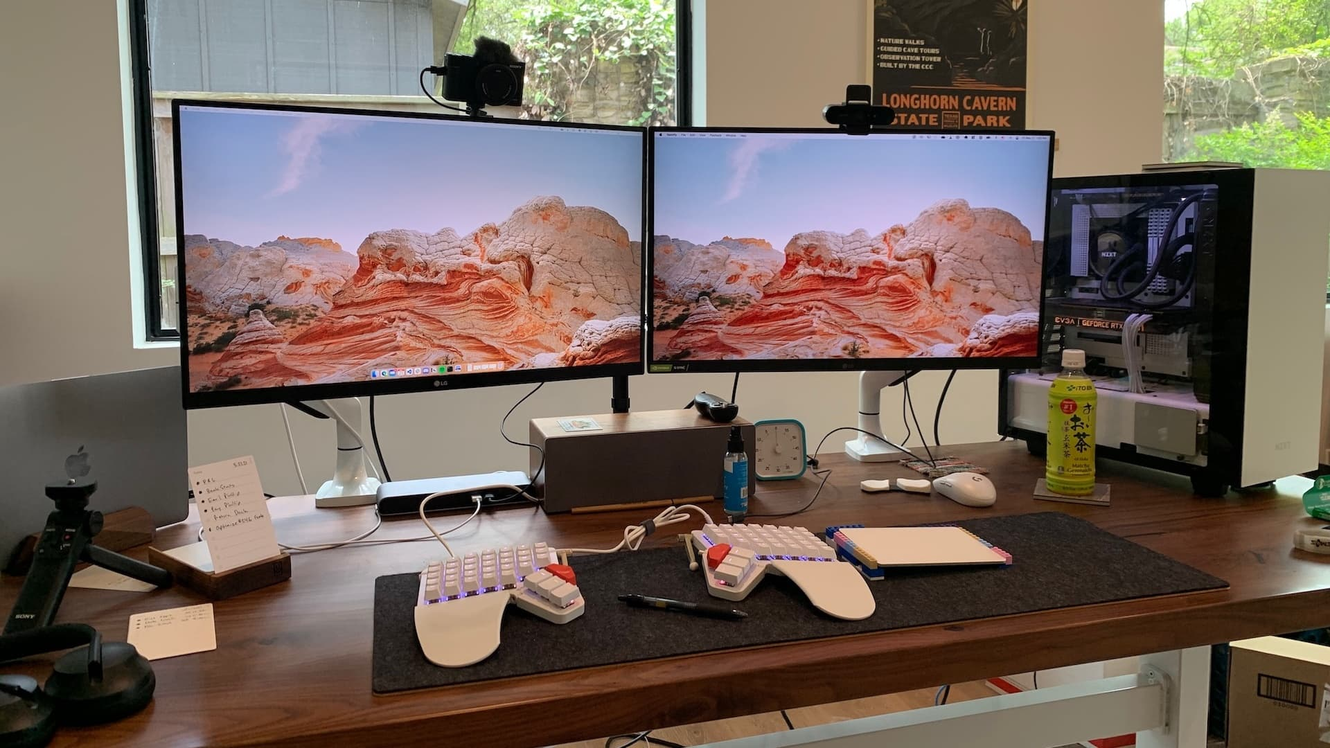 Two side-by-side 16:9 displays