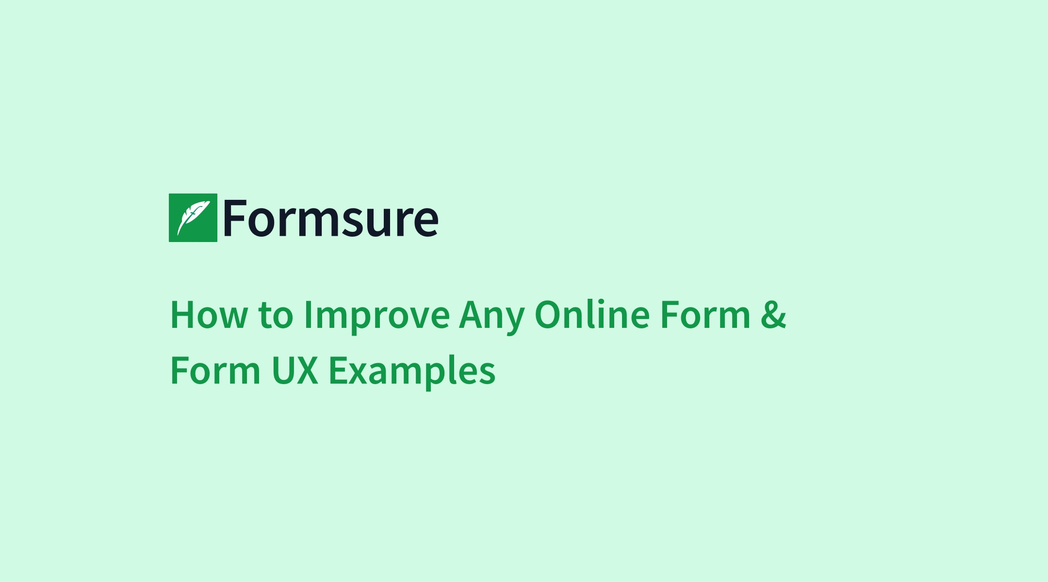 How to Improve Any Online Form & Form UX Examples - Formsure