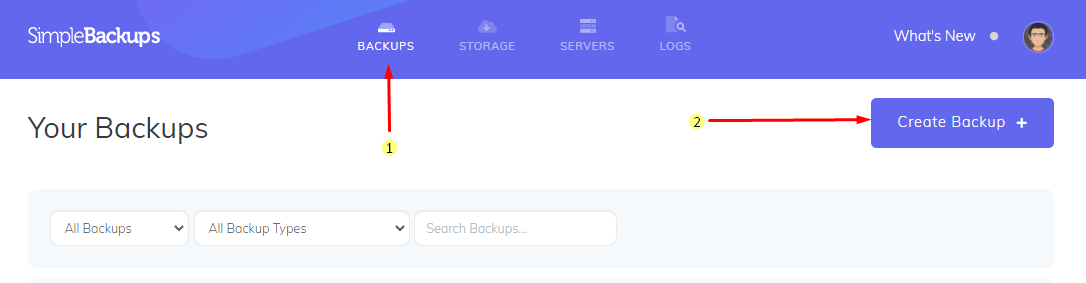Create Wordpress Backup