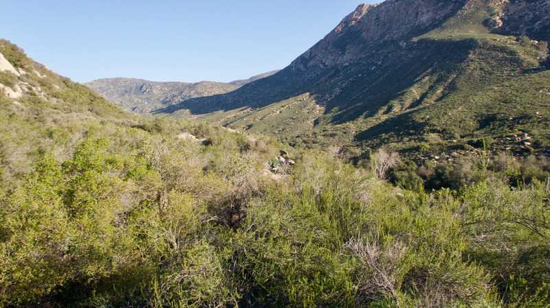 Descending Hauser Canyon