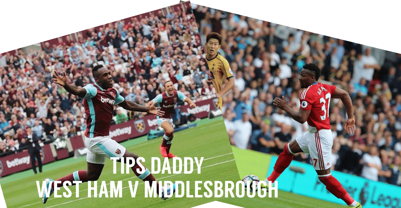 West Ham vs Middlesbrough Betting TIps