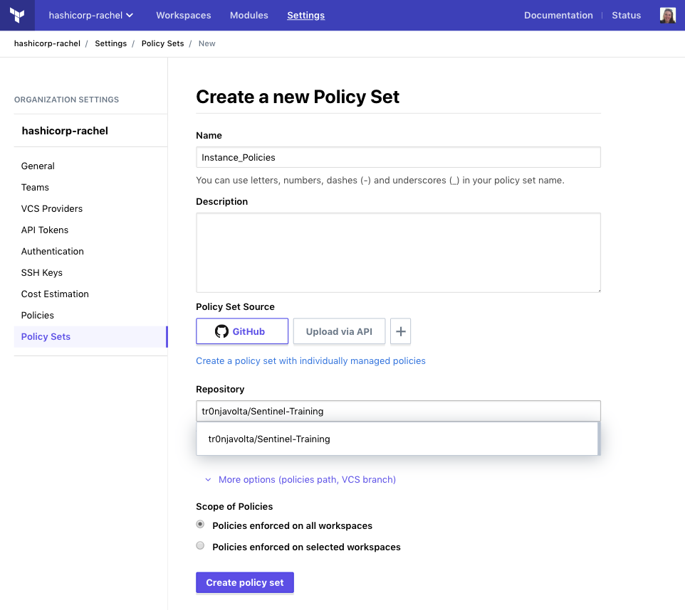 Policy Sets Continued
