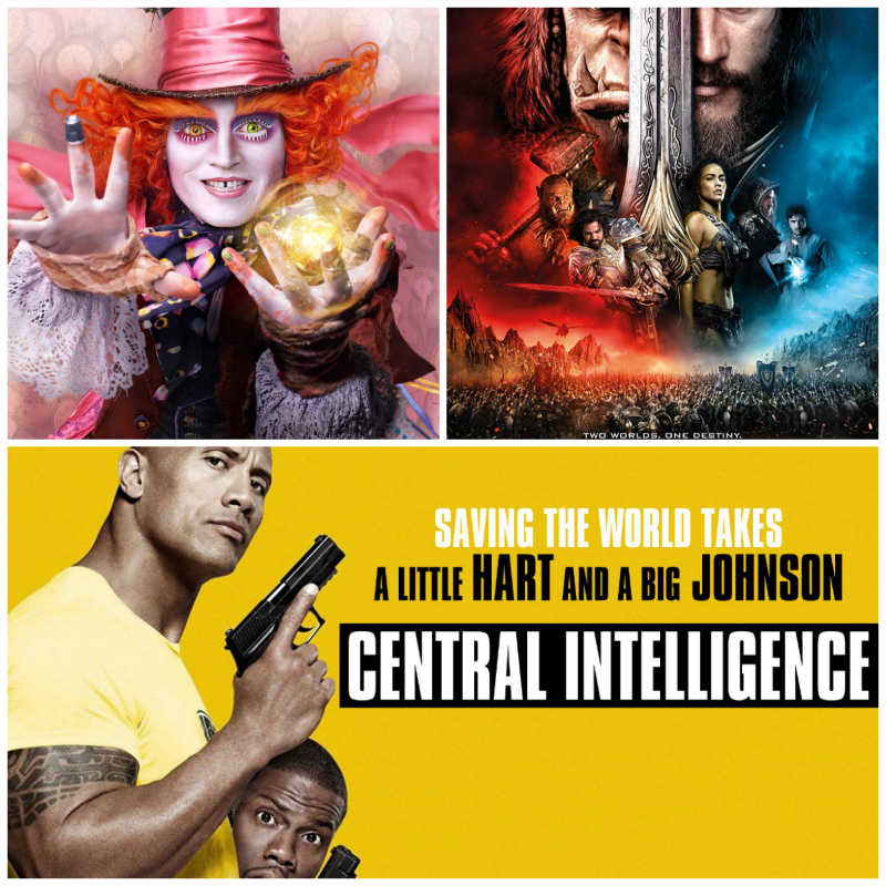 Alice Through the Looking Glass, Warcraft and Central Intelligence