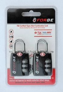 Forge TSA Locks 2 Pack - Open Alert Indicator, Alloy Body with Lifetime Warranty boxed