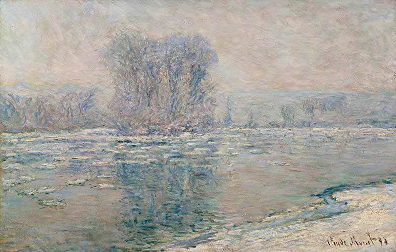 Monet's Glacons Effet Blanc sold for over $16 million in November 2013.