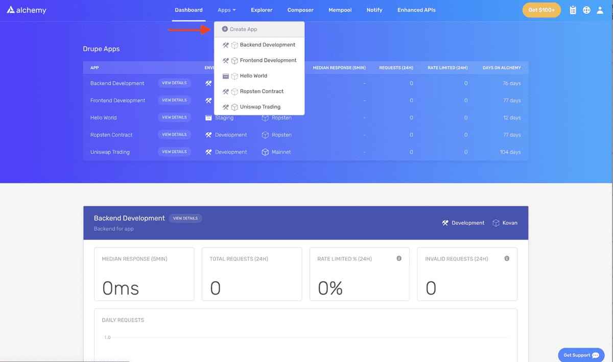 Hello world create app