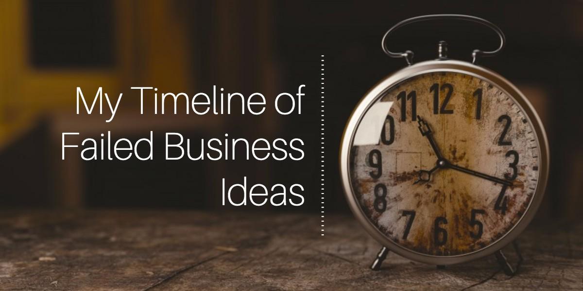 My Timeline of Failed Business Ideas