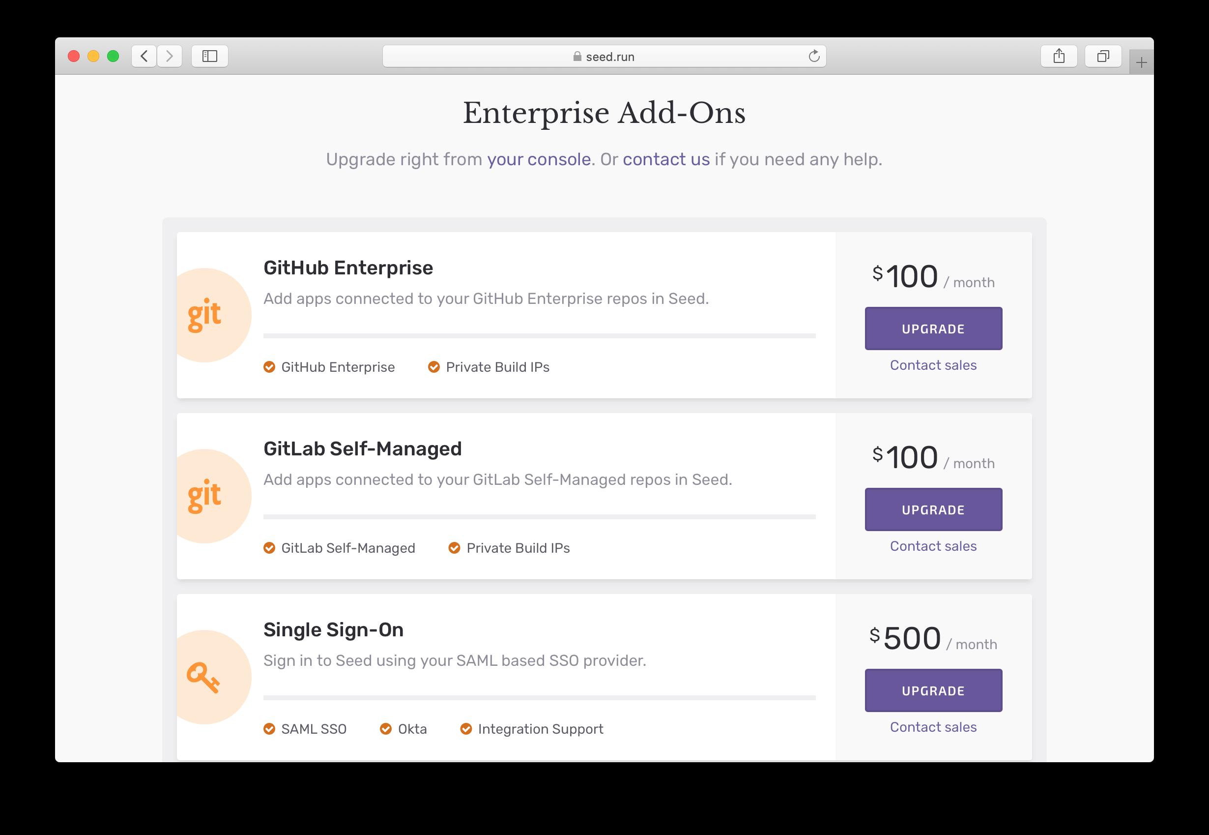 Enterprise Add-Ons in Seed
