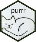 purrr hex sticker