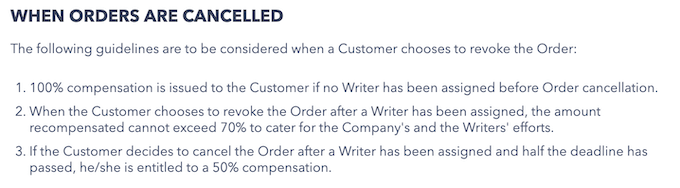 money back guarantee for cancelled orders