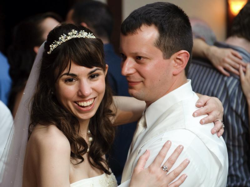 Sara and Ted's wedding.