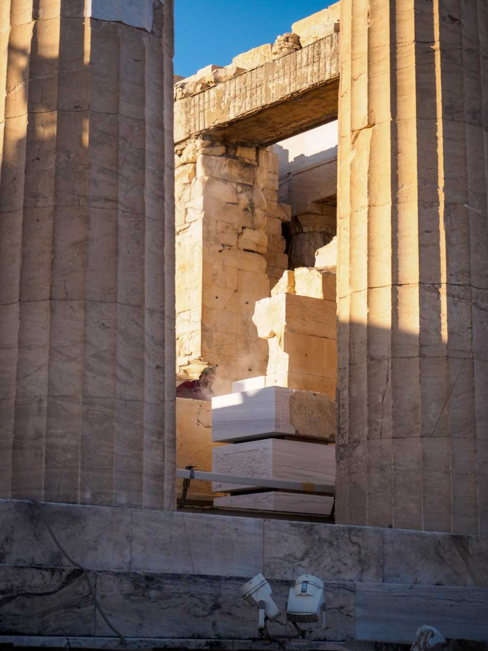 Restoration at the Acropolis, Athens