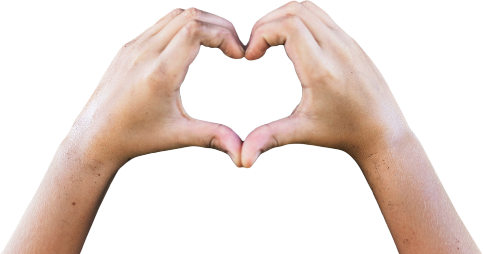 image of hands forming a heart