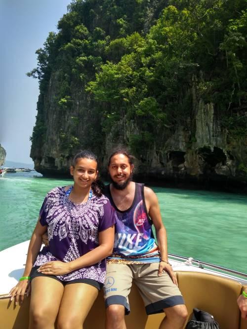 Jasdeep in Thailand Maya Bay