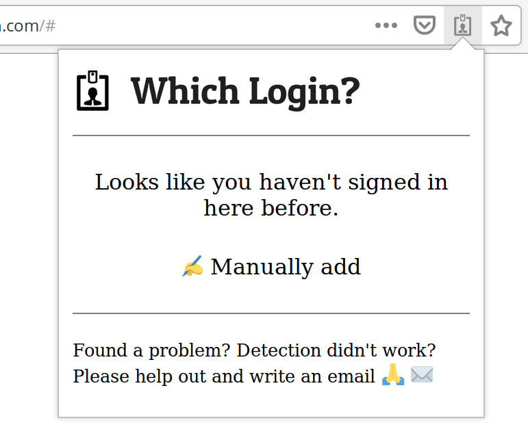 Manually adding to Which Login step 1 popup