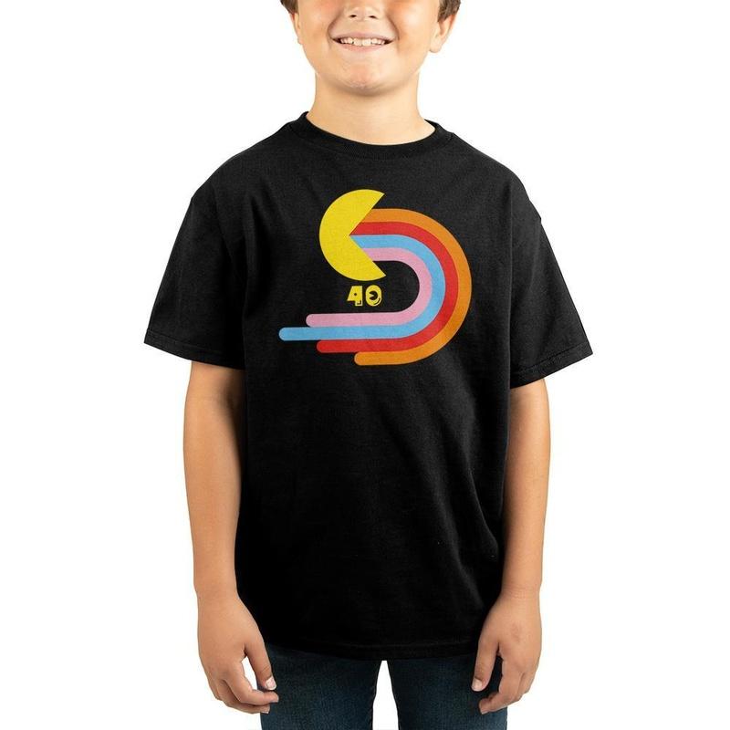 Pac-Man Children Black T-Shirt Wear
