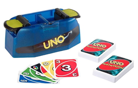 Uno Showdown Supercharged Spinoff Game Display Image