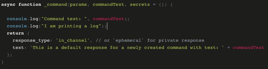 serverless slack app code example