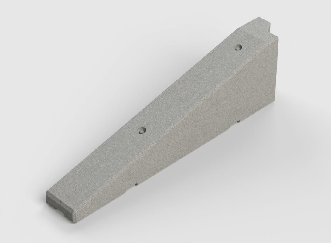 Concrete logo block end 2