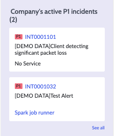 Organization-wide P1 incidents