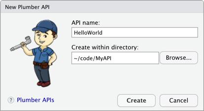 New Plumber API Dialog