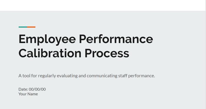 Employee Performance Calibration Process Slidedeck