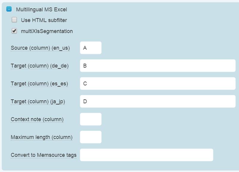 Multilingual MS Excel