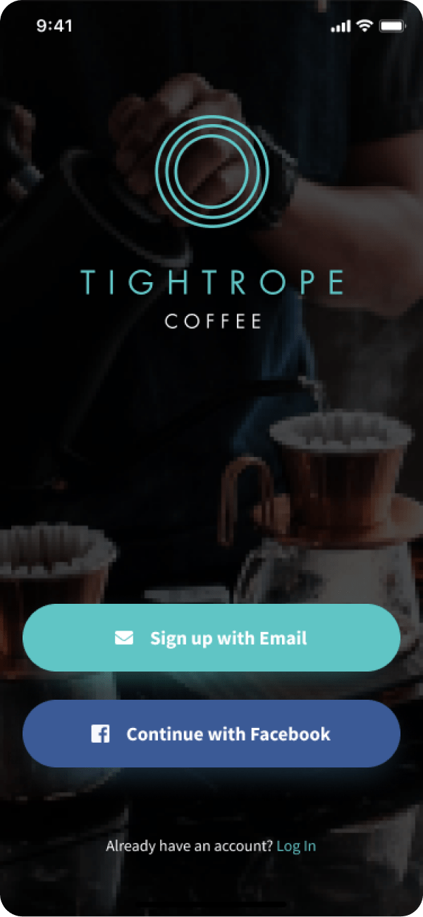 Tightrope opening screen